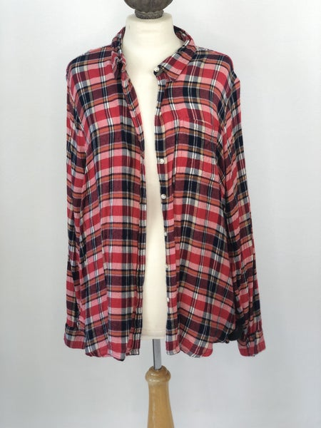 Sz. XL Lucky Brand Red Plaid Shirt
