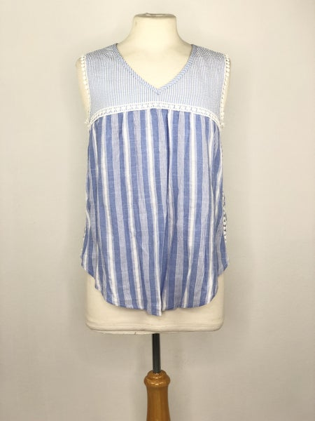 S Andree by Unit Baby Blue/White Tank