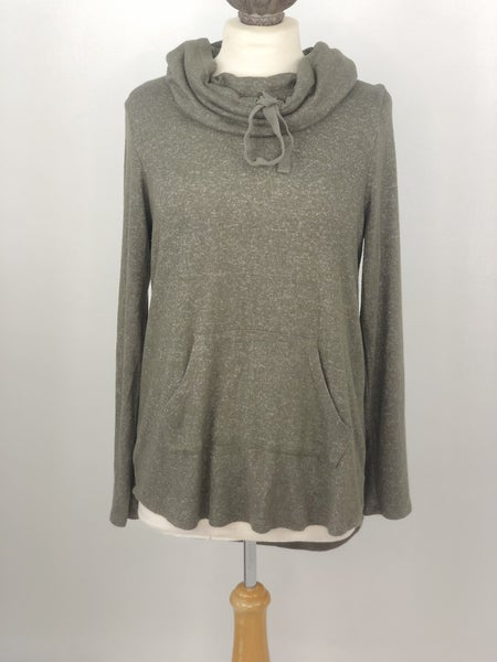 M Moondance Heather Green Funnel Neck Sweatshirt