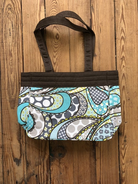 Thirty One Demi Purse in Patchwork Paisley