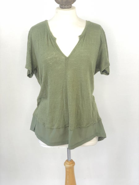 Sz 1X Sanctuary V-neck Army Green Top