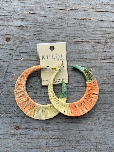 Orange Sorbet Wrapped Earring