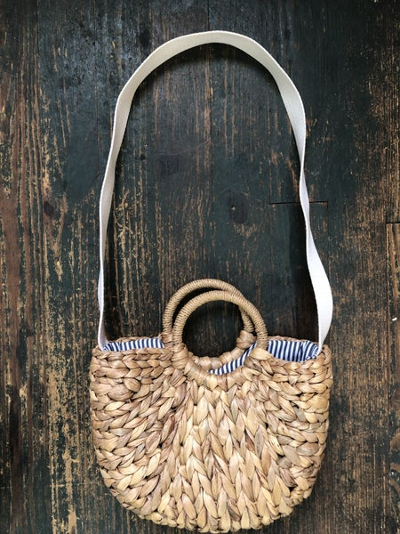 Gap Seagrass Bag w/ Canvas Strap