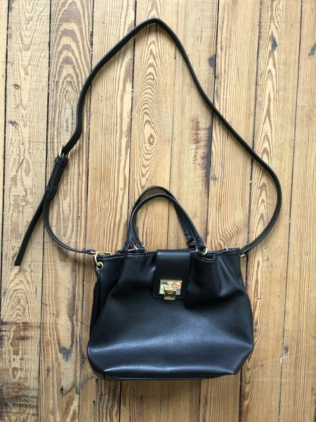 Max Studio Black Faux Leather Convertible Crossbody *LOCAL PICKUP ONLY*