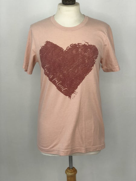 S Bella Canvas Blush 1 Cor 13:4 Tee