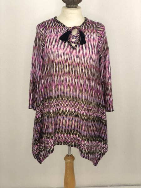 M New Directions Purple/Blue Knit Tunic