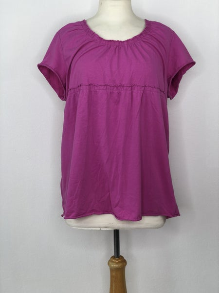 XL Madison Pink Short Sleeve Baby Doll Top