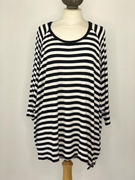 2X Michael Kors Black/White Stripe Top