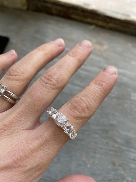 Silver Tone Ring Sz 9