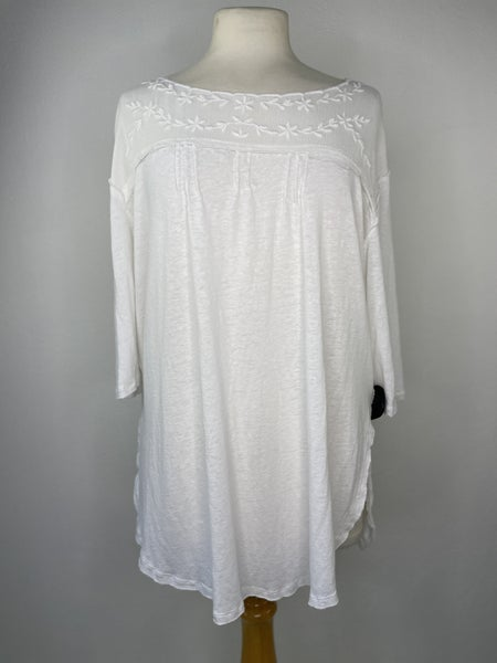 S Free People White Top