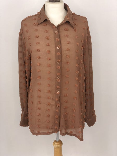 M Rust Dot Blouse