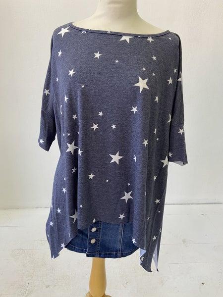 Pixi + Ivy Blue Heather Star Top