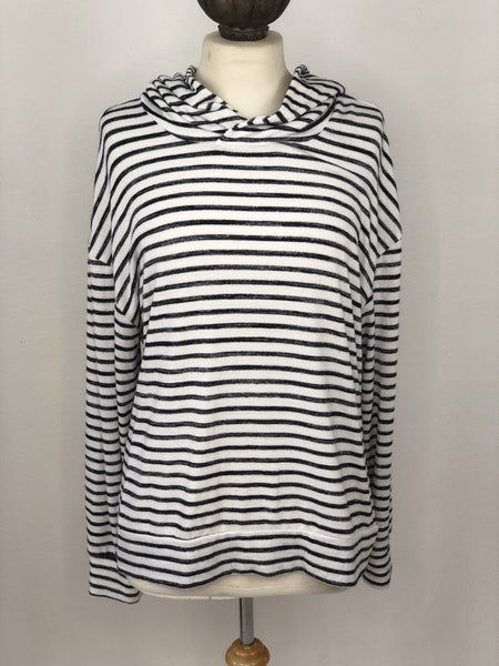 XXL A New Day Navy/White Stripe Hoodie