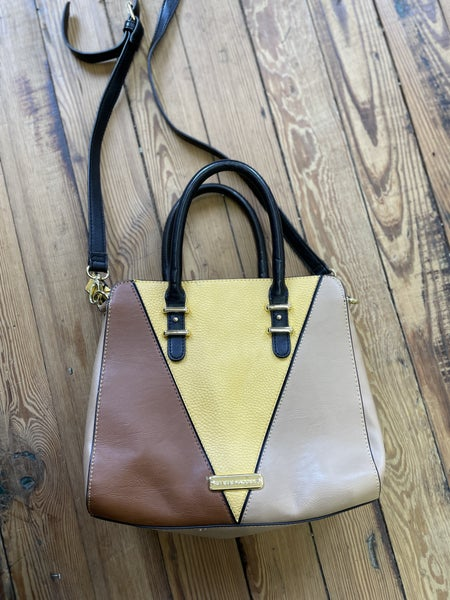 Steve Madden Faux Leather Yellow Colorblock Convertible Crossbody