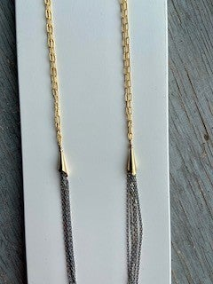 14 K Gold Filled Gray Multi chain Necklace