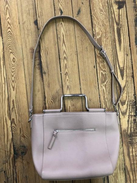 Madison West Vintage Lavender Faux Pebble Leather Convertible Crossbody