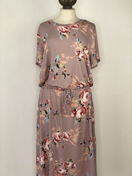 XL Mauve Floral Dress