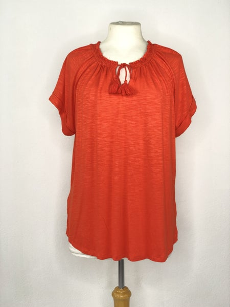 XL Liz Claiborne Orange Knit Top