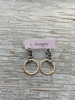 14 K Gold Filled Mixed metal link Earring
