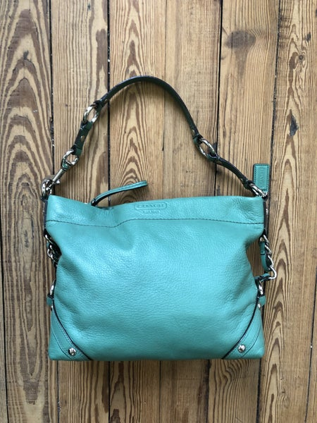 Coach Carly Leather Hobo in Jade Est. Ret $328 *As Is* Some Marking *Shippable*