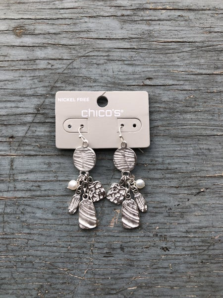 Chico's Silver Glory Drop Earring NWT