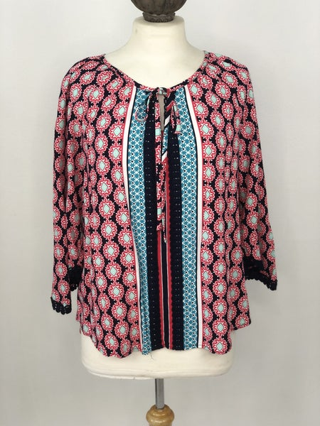 L Crown & Ivy Multicolor Tunic