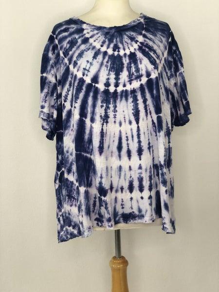 3X True Craft Blue/White Tie Dye Tee