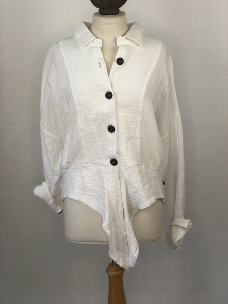 Sz. L Free People Tie Front 100% Cotton Button Up Top