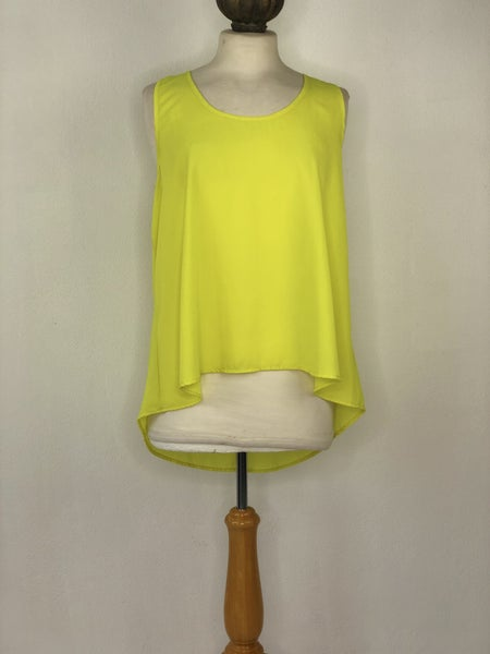 XL Lily Star Neon Yellow XL Lily Star Neon Yellow Tank Top Blouse