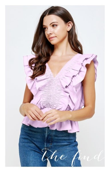 Audrey Top in Lilac