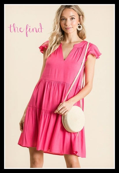 Sally Dress in Fuchsia *Final Sale*