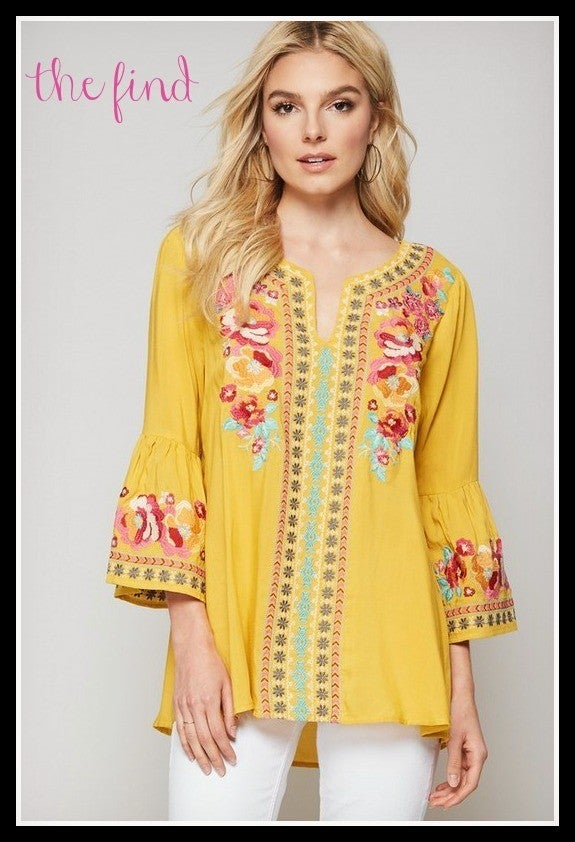 Brye Embroidered Top *Final Sale*