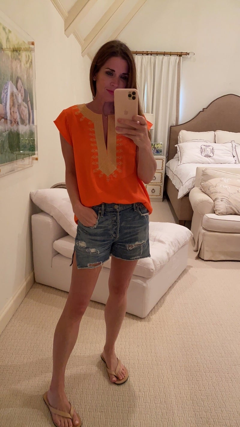 Amelia Top in Orange