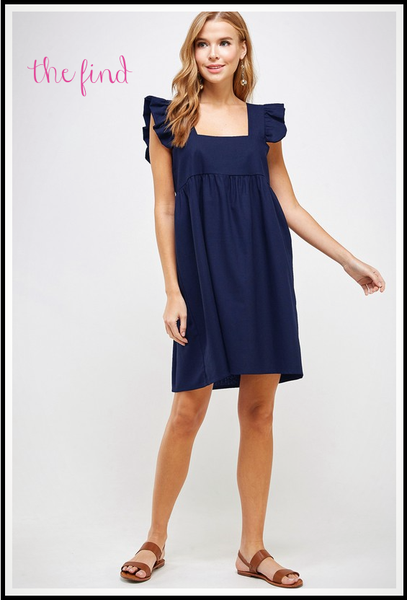 Meredith Dress in Navy