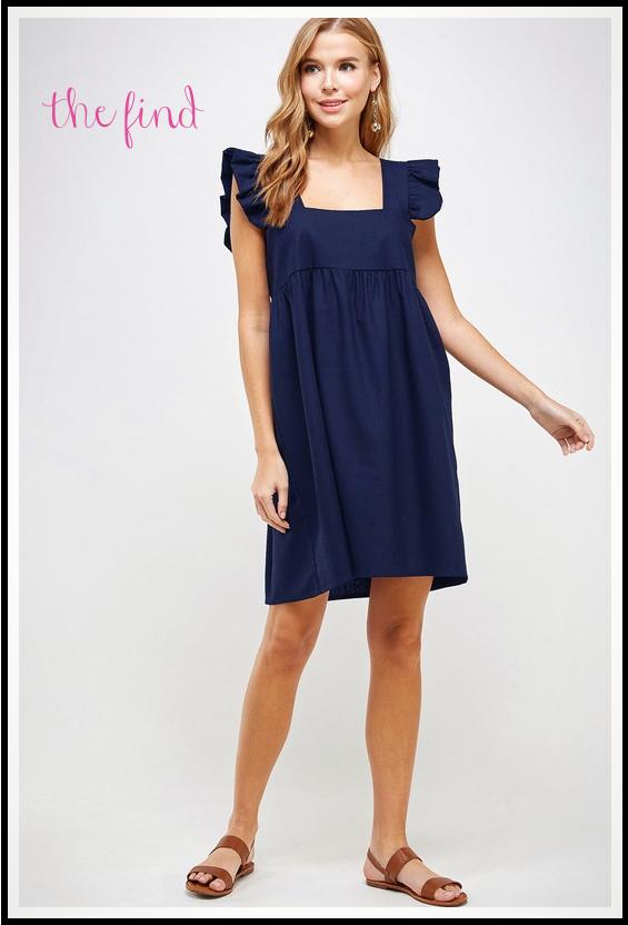 Meredith Dress in Navy