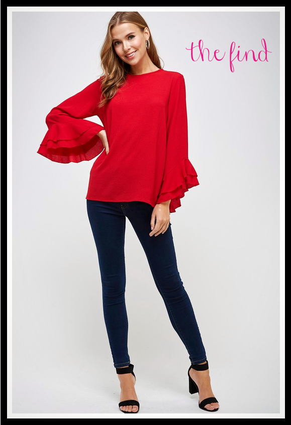 Reagan Top in Red