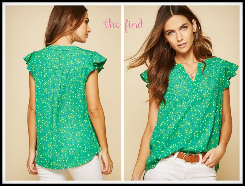 Audrey Top in Green *Final Sale*