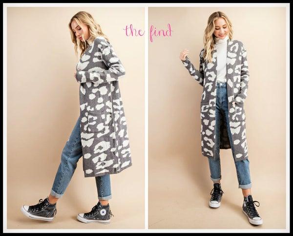 Elle Leopard Cardigan
