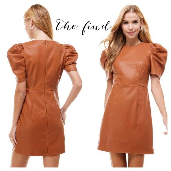 Scarlett Vegan Leather Dress