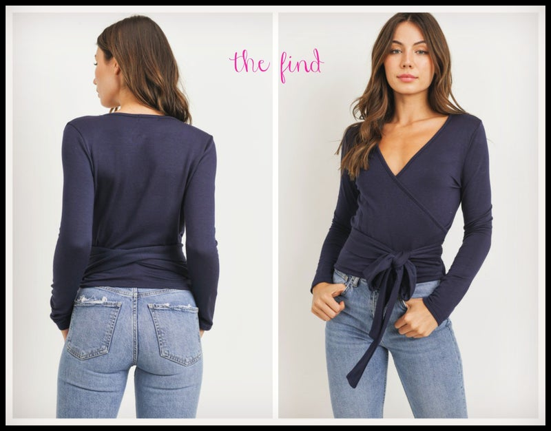 Karoline Top in Navy