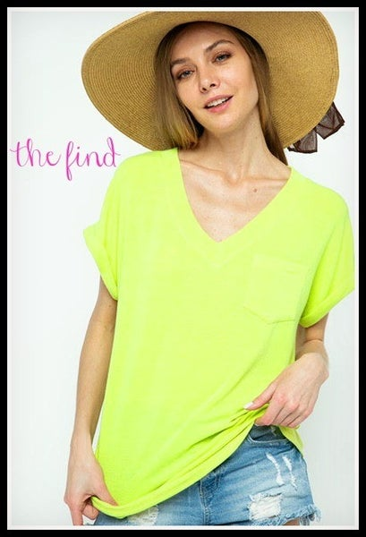 Preston Tee in Neon Yellow *Final Sale*