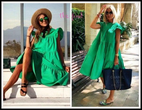 Neely Dress in Green