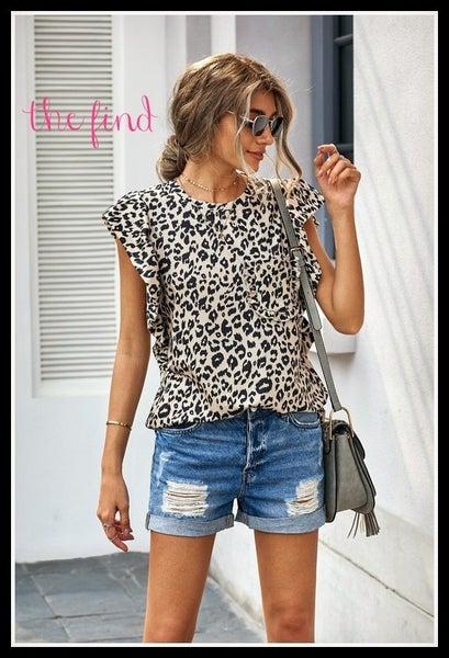 Sheridan Top in Leopard