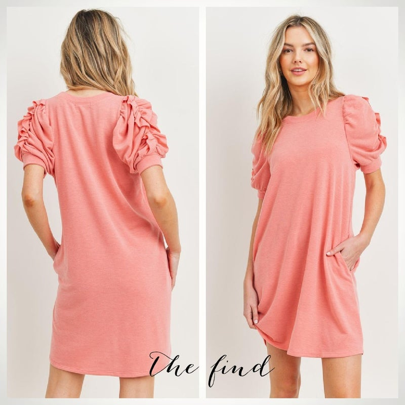 Gibson Dress in Coral
