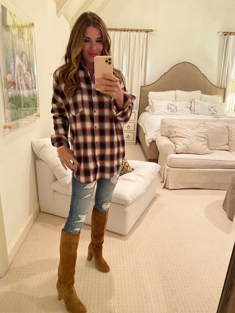 Harris Plaid Top in Red
