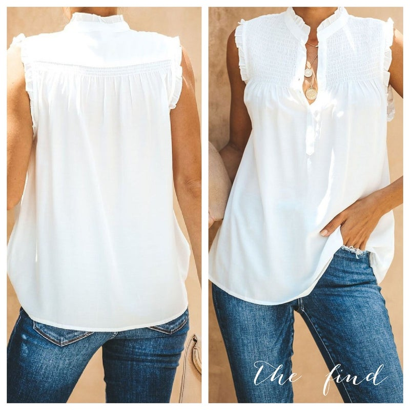 Channing Top in White