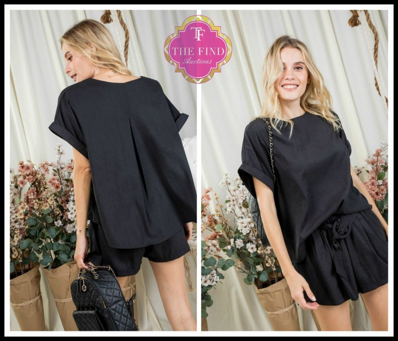Olivia Short Set in Black