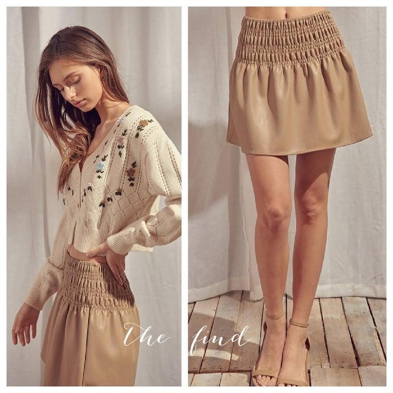 Smith Vegan Leather Skirt