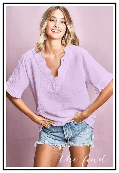 Courtney Top in Lavender