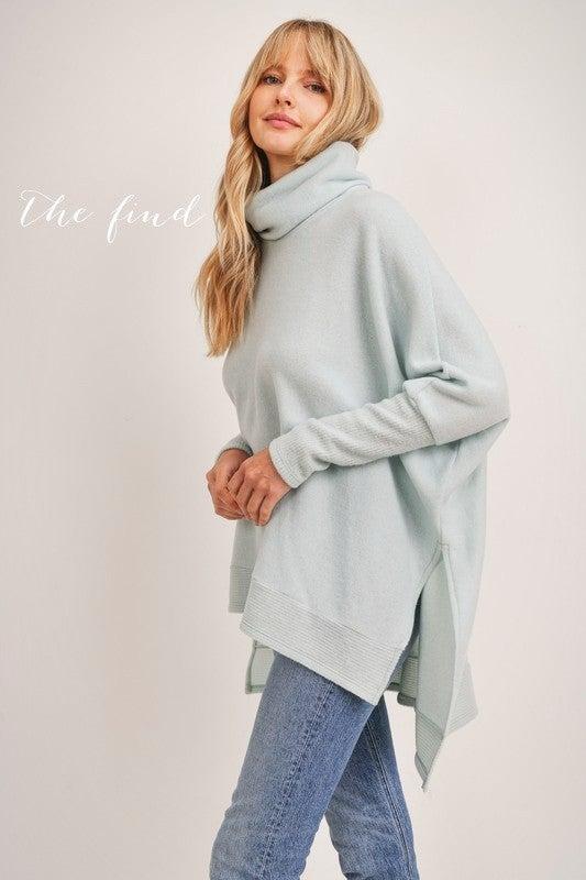 Ainsley Sweater in Pale Aqua